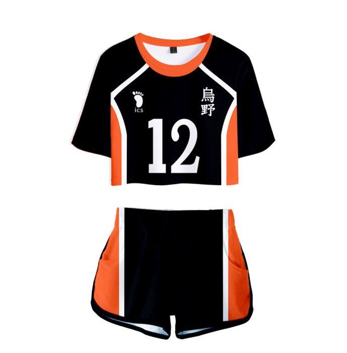 Haikyuu Cosplay Kostüm Hinata Shoyo Hemd Shorts Nishinoya Yuu Uniform Sport Karasuno Koukou Hohe Schule Volleyball Club Frauen 15