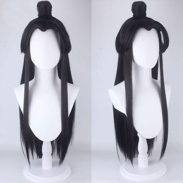 Eraspooky Unisex Xie Lian Cosplay Kostüm Tian Guan Ci Fu Cosplay Xielian perücken Bambus Hut Prop Weiß Han Fu Anime outfit 6