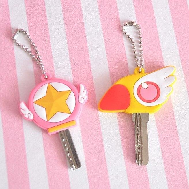 Sailor Moon Luna Card Captor Sakura Katze Keychain Abdeckung Cosplay Prop Anhänger Schlüsselring Anime 3