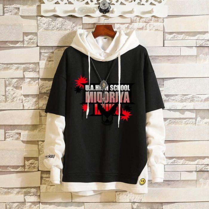 Mein Boku keine Hero Wissenschaft Midoriya Izuku Todoroki Shoto Sportswear Sweatshirts Top Gefälschte Zwei Stück Cosplay Kostüm Pullover Hoodie 6