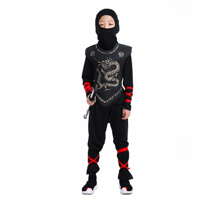 Ninja Kostüm Kind Ninjago Party Kostüme Jungen Mädchen Halloween Phantasie Kleid Superhero Cosplay Ninja Anzug Kinder Kleidung Set Geschenk 5