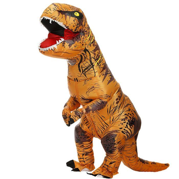 Erwachsene Kinder Aufblasbare Dinosaurier Kostüm T REX cosplay Kostüme Halloween kostüm für männer frauen Anime Phantasie Kleid anzug Karneval 6