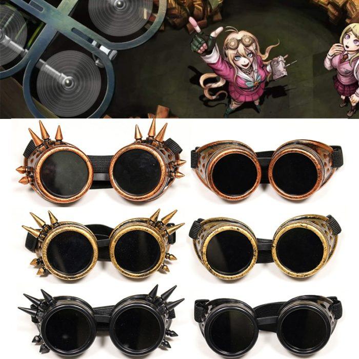 Danganronpa V3 Iruma Miu Cosplay gläser Prop Gothic Cosplay Niet Steampunk Brille Gläser Schweißen Punk 1