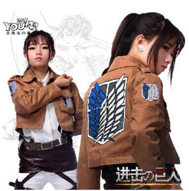 Angriff auf Titan Jacket Shingeki kein Kyojin jacke Legion Cosplay Kostüm Jacke Mantel Jeder Größe Hochwertige Eren Levi 1