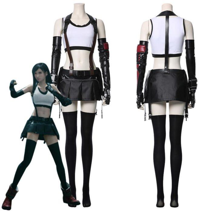 Final Fantasy VII Remake Tifa Lockhart Cosplay Kostüm Erwachsene Frauen Mädchen Halloween Karneval Kostüme 1