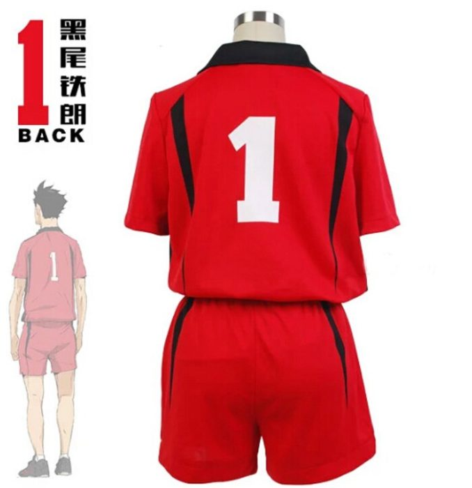 Haikyuu!! Nekoma Hohe Schule #5 1 Kenma Kozume Kuroo Tetsuro Cosplay Kostüm Haikiyu Volley Ball Team Jersey Sportswear Uniform 3