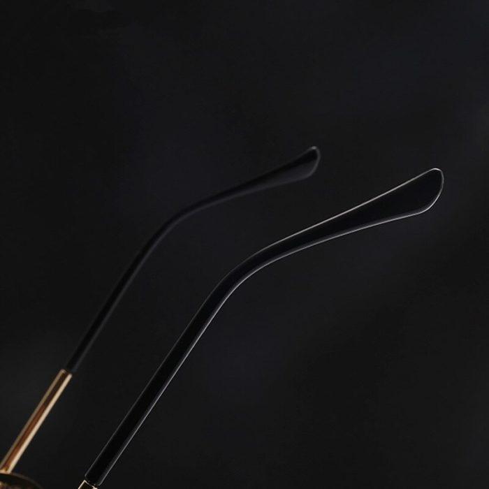 Gute Omens Dämon Crowley Cosplay Brillen Gläser Steampunk Brille Sonnenbrille Retro Farbe film Reflektierende Hohe Qualität Spiegel 6
