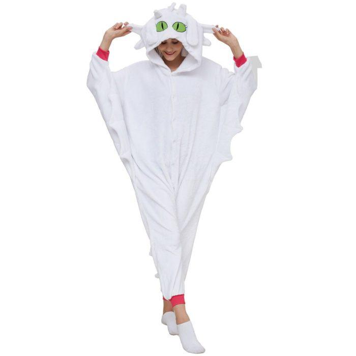 Kigurumi Anime Wie Trainieren sie Ihre Dragon Zahnlos Cosplay Kostüm Overall Pyjamas Lustige Drachen Onepiece Tier Karneval Cosplay 6