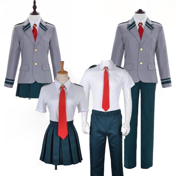 Boku keine Hero Wissenschaft Mein Hero Wissenschaft Sommer und Winiter Uniform Midoriya Izuku Bakugou Katsuki Ochaco Uraraka Cosplay Kostüm 1