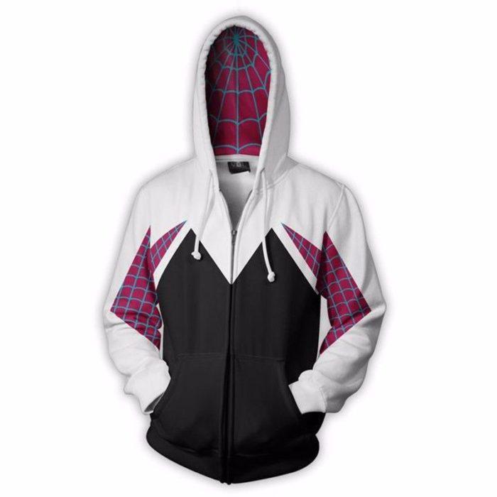 Spinne Gwen Stacy Cosplay Kostüm 3D Zipper Jacke Mantel Outfit Kleidung Hoodies Sweatshirt Halloween Kostüme 1