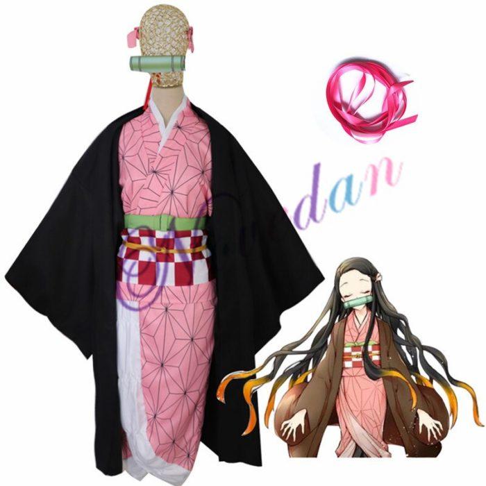 Anime Kimetsu keine Yaiba Cosplay Kostüm Dämon Slayer Agatsuma Zenitsu Cosplay Kleidung Kimono Halloween Kostüm Für Erwachsene Männer 6