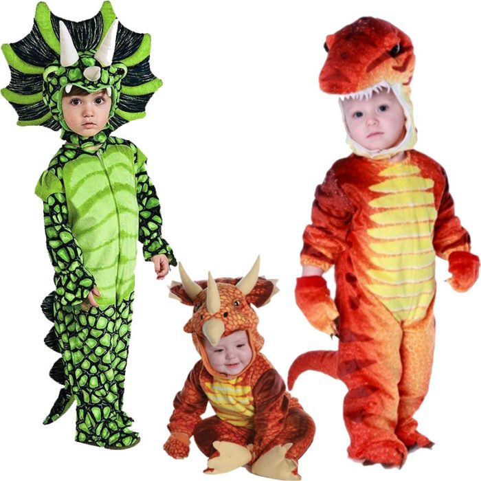 Neue Triceratops Kostüm Jungen Kinder Kleine T-Rex Kostüm Cosplay Dinosaurier Overall Halloween Cosplay Weihnachten kostüme für kinder 1