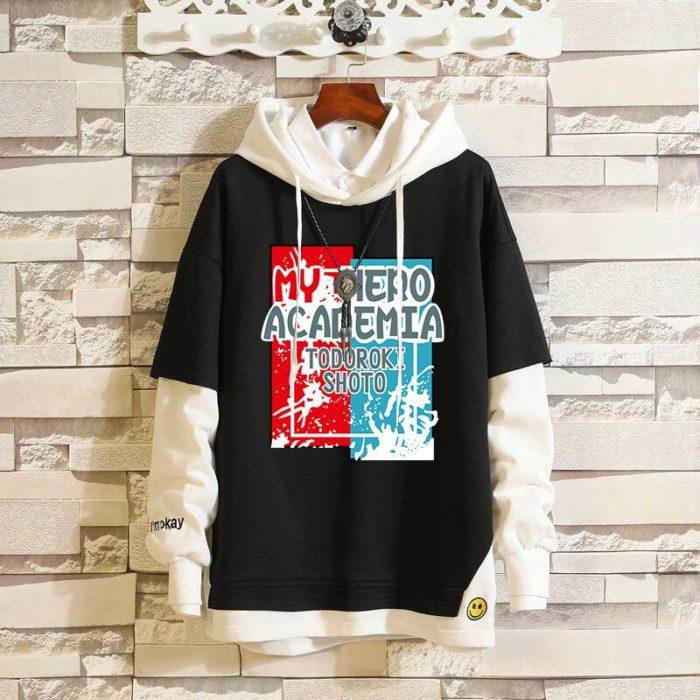 Mein Boku keine Hero Wissenschaft Midoriya Izuku Todoroki Shoto Sportswear Sweatshirts Top Gefälschte Zwei Stück Cosplay Kostüm Pullover Hoodie 2