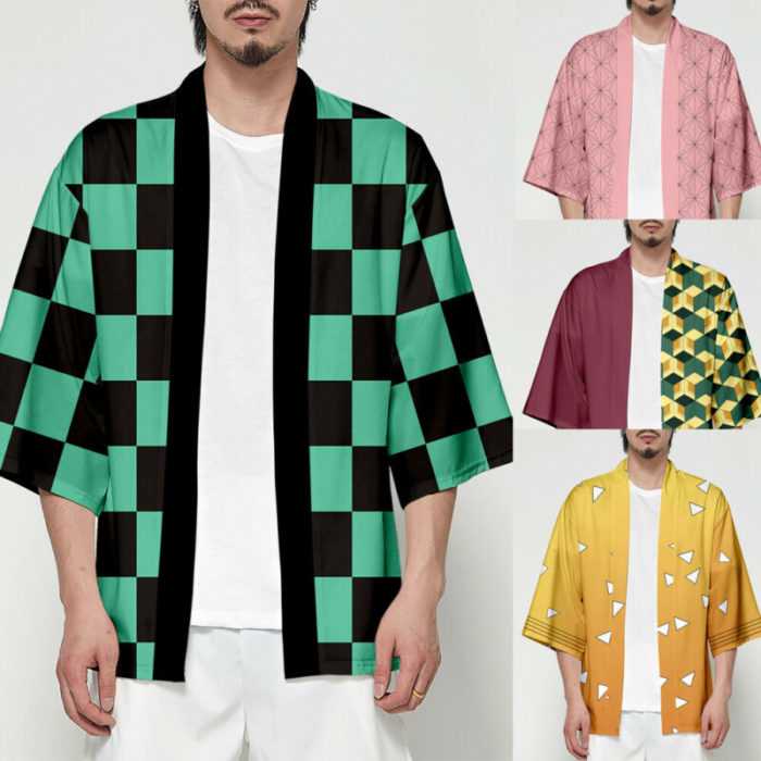 Unisex Dämon Slayer Kimetsu keine Yaiba Zeichen Cosplay Kimono Haori Mantel Shirt 1