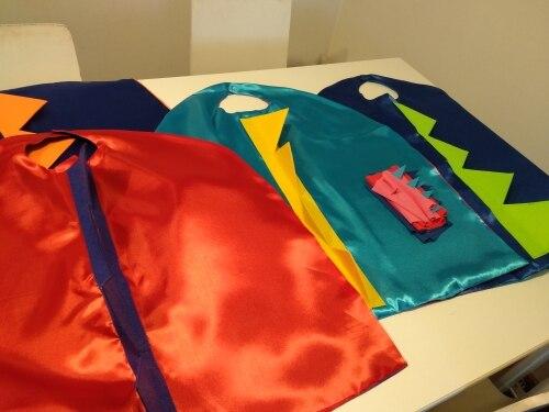 Lustige Halloween Kostüme Dinosaurier Cosplay Cape mit Handschuhe Doppel Seite Farben Geburtstag Party 4