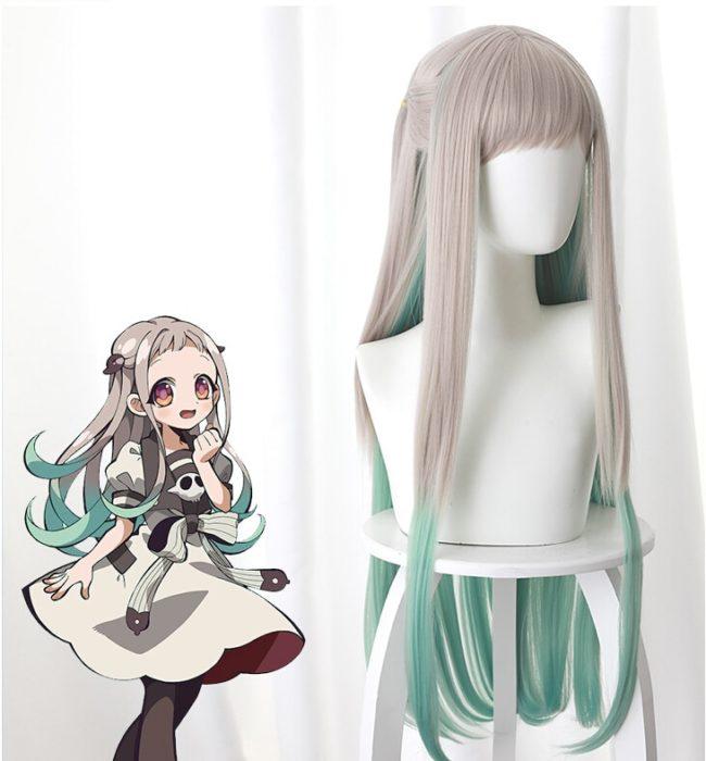 80cm Anime Jibaku Shounen Hanako kun Cosplay Perücken Nene Yashiro Lange Wärme Beständig Synthetische Haar Party Perücken 1
