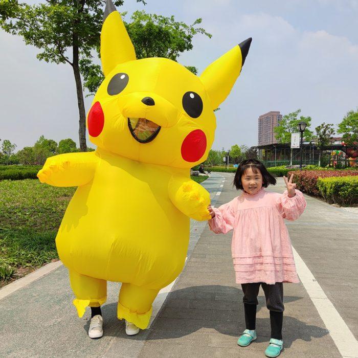 Pikachu Aufblasbare Kostüm Anime Cosplay Kostüm Pokemon Peluche Maskottchen Karneval Fantasie Erwachsene Kostüme 1