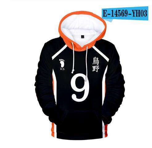 Japan Anime Haikyuu Cosplay Kostüm Fukurodani Akademie Volleyball Club Akaashi Keiji Bokuto Koutarou Unisex 3D Hoodie Sweatshirt 7