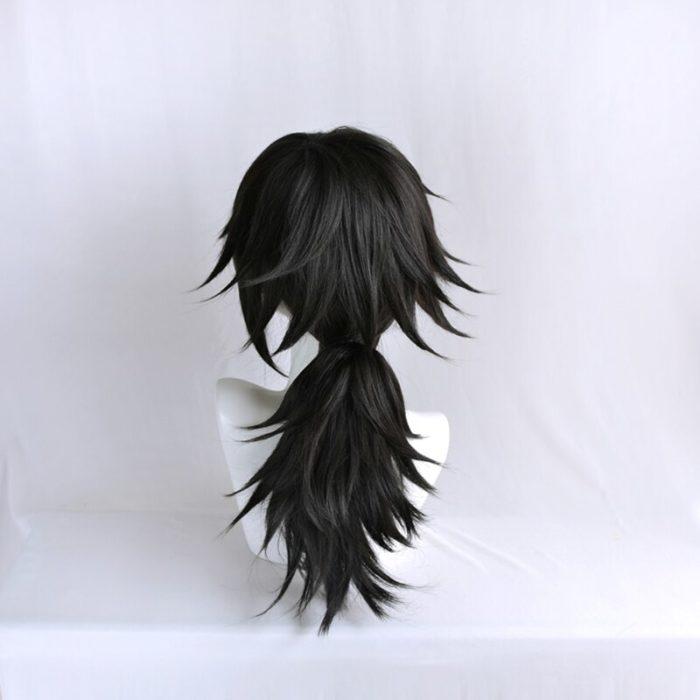 Dämon Slayer Kimetsu keine Yaiba Tomioka Giyuu Schwarz Pferdeschwanz Perücke Cosplay Kostüm Männer Frauen Hitze Beständig Synthetische Haar Perücken 5