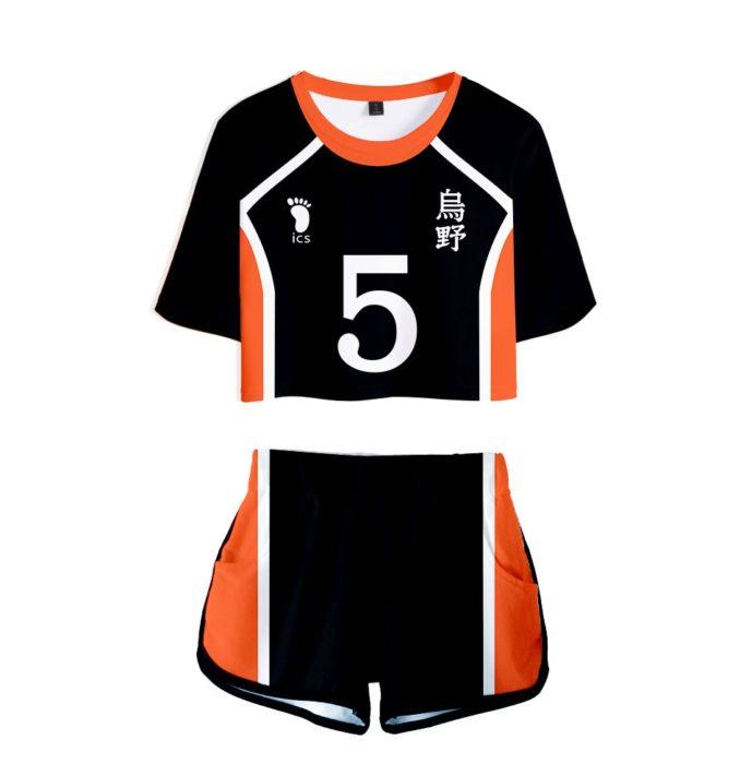 Haikyuu Cosplay Kostüm Hinata Shoyo Hemd Shorts Nishinoya Yuu Uniform Sport Karasuno Koukou Hohe Schule Volleyball Club Frauen 13