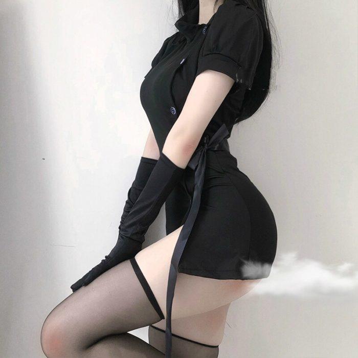 Harajuku Punk Krankenschwester Uniform Ultra Kleid Sexy Unterwäsche Frauen Split Rock Hause Nachtwäsche Cosplay Uniform Showgirl Kostüme 2