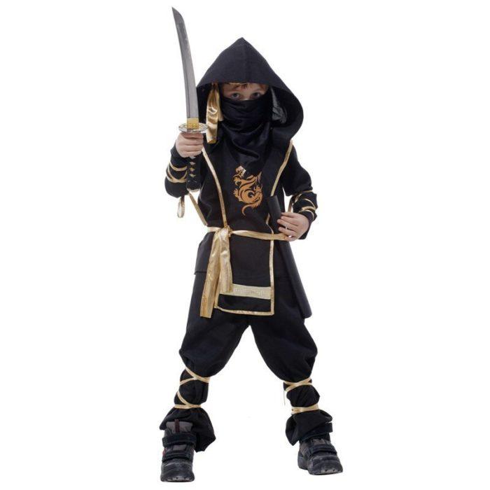 Kinder Drachen Ninja Cosplay Kostüme Karneval Party Jungen Mädchen Krieger Stealth Samurai Assassins Phantasie Kostüme 3
