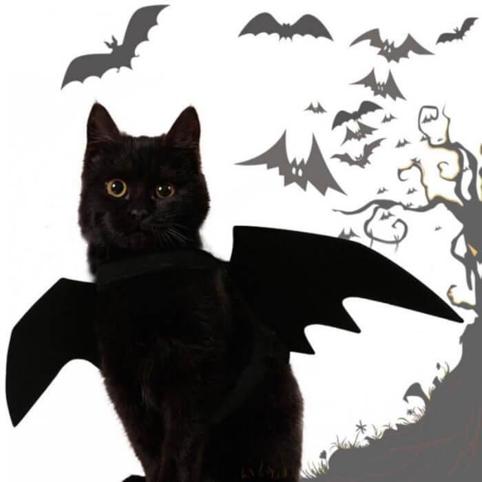2019 neue OLN Pet Hund Katze Fledermaus Flügel Cosplay Prop Halloween Bat Phantasie Kleid Kostüm Outfit Flügel Katze Kostüme Foto requisiten Headwear 5