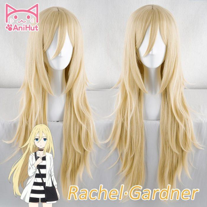 【AniHut】Rachel Gardner Perücke Engel von Tod Cosplay Perücke Synthetische Blonde Haar Ray Cosplay 1