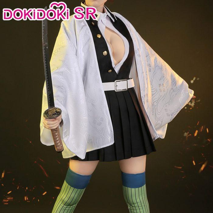 DokiDoki-SR Anime Dämon Slayer: Kimetsu keine Yaiba Cosplay Kanroji Mitsuri Kostüm Kimetsu keine Yaiba Kanroji Cosplay Mitsuri 1