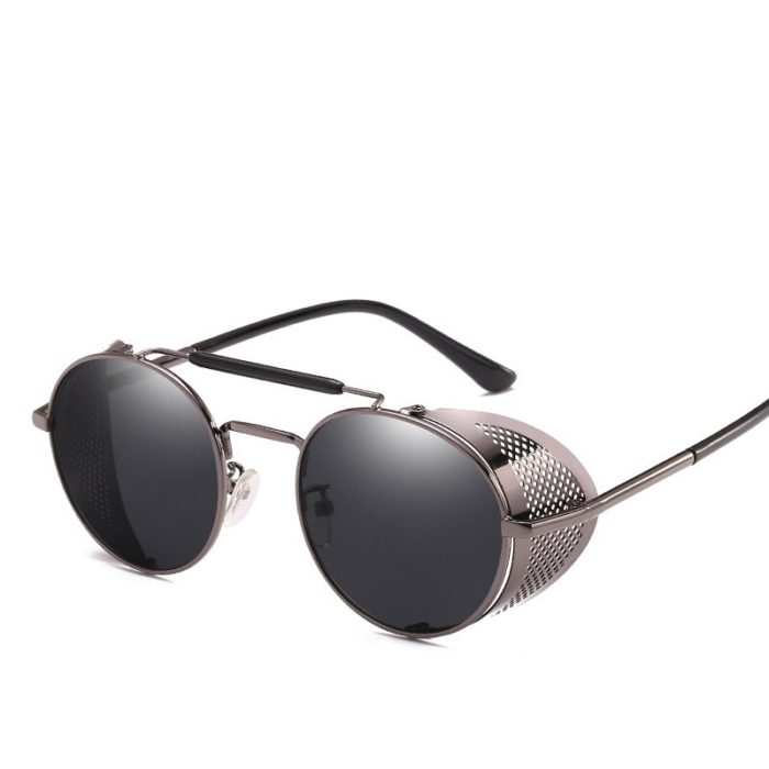 Gute Omens Dämon Crowley Cosplay Brillen Gläser Steampunk Brille Sonnenbrille Retro Farbe film Reflektierende Hohe Qualität Spiegel 2