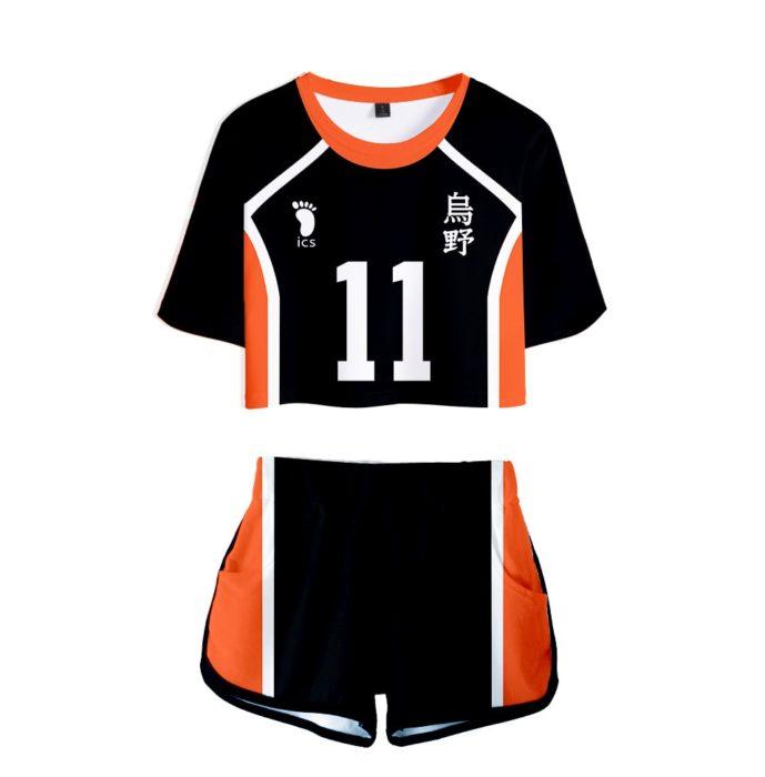 Haikyuu Cosplay Kostüm Hinata Shoyo Hemd Shorts Nishinoya Yuu Uniform Sport Karasuno Koukou Hohe Schule Volleyball Club Frauen 10