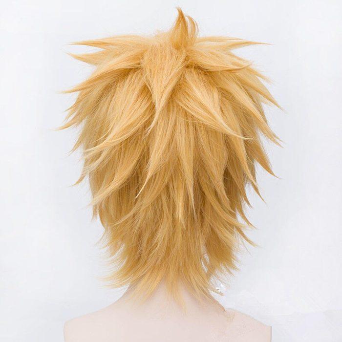 Naruto Uzumaki Perücken Goldene Kurze Flauschigen Shaggy Überlagerte Wärme Beständig Synthetische Haar Cosplay Kostüm Perücke + Perücke Kappe 4