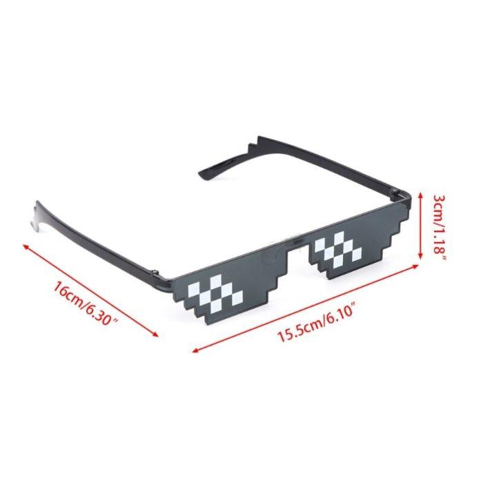 ES Mosaik Sensation Sterne Liebe Pixel Gläser Cosplay Kostüme Zubehör Brillen ACG Boss Thug Life Erwachsene Kinder Sonnenbrille 5