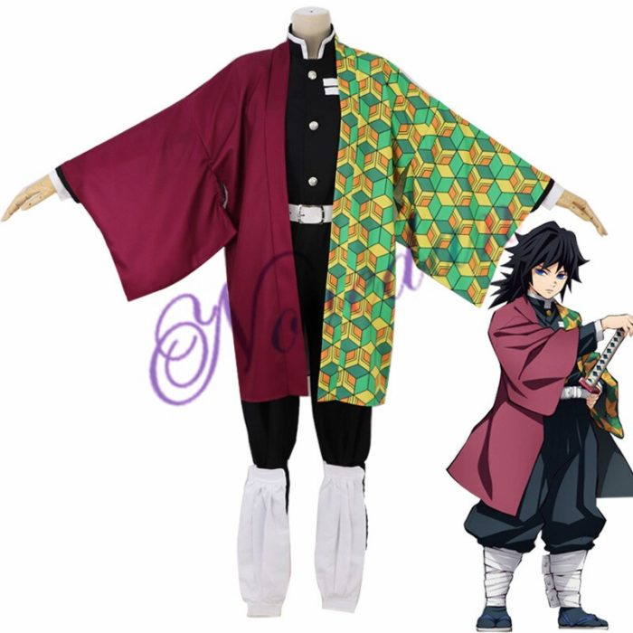 Anime Kimetsu keine Yaiba Cosplay Kostüm Dämon Slayer Agatsuma Zenitsu Cosplay Kleidung Kimono Halloween Kostüm Für Erwachsene Männer 5