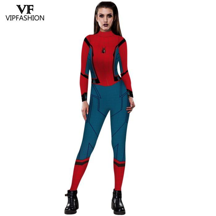 VIP MODE Lycra Spinne Cosplay Kostüm Superhero Zentai BodySuit Eisen Spinne Overall Für Halloween Kostüm 2