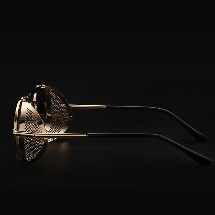 Gute Omens Dämon Crowley Cosplay Brillen Gläser Steampunk Brille Sonnenbrille Retro Farbe film Reflektierende Hohe Qualität Spiegel 4