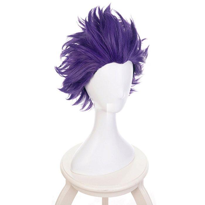 Boku keine Hero Wissenschaft Shinsou Hitoshi Shinso Perücke Cosplay Kostüm Mein Hero Wissenschaft Kurze Lila Perücken Synthetische Haar + Perücke kappe 3