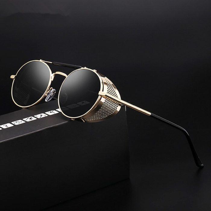 Gute Omens Dämon Crowley Cosplay Brillen Gläser Steampunk Brille Sonnenbrille Retro Farbe film Reflektierende Hohe Qualität Spiegel 3