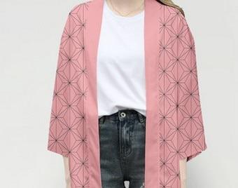 Unisex Dämon Slayer Kimetsu keine Yaiba Zeichen Cosplay Kimono Haori Mantel Shirt 10