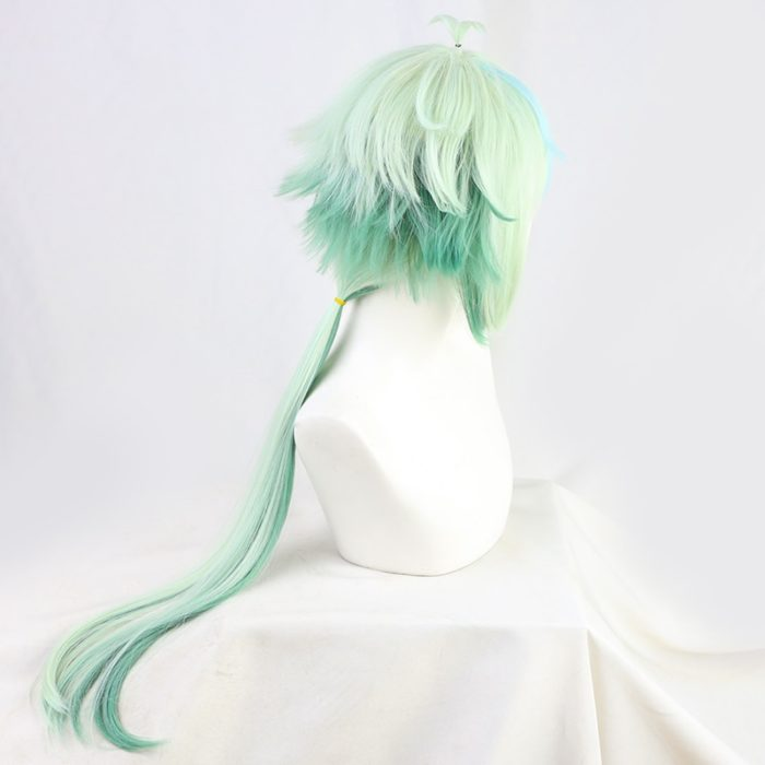 Sucrose Genshin Impact Green Mixed Long Straight Cosplay Heat Resistant Synthetic Hair Halloween Carnival Party + Free Wig Cap 3