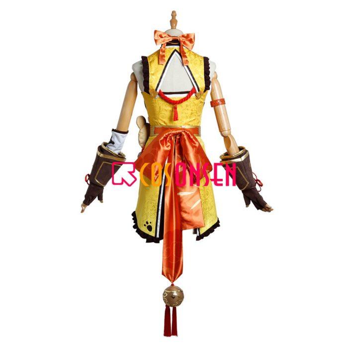 Genshin Auswirkungen Xiangling Cosplay Kostüm Kopf Chef Outfit COSPLAYONSEN Nach Maß 5