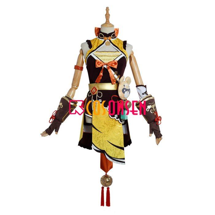 Genshin Auswirkungen Xiangling Cosplay Kostüm Kopf Chef Outfit COSPLAYONSEN Nach Maß 2