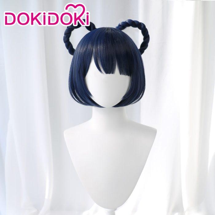DokiDoki Spiel Genshin Auswirkungen Cosplay Halloween Xiangling Cosplay Perücke Genshin Auswirkungen Xiang ling Cosplay Haar 3