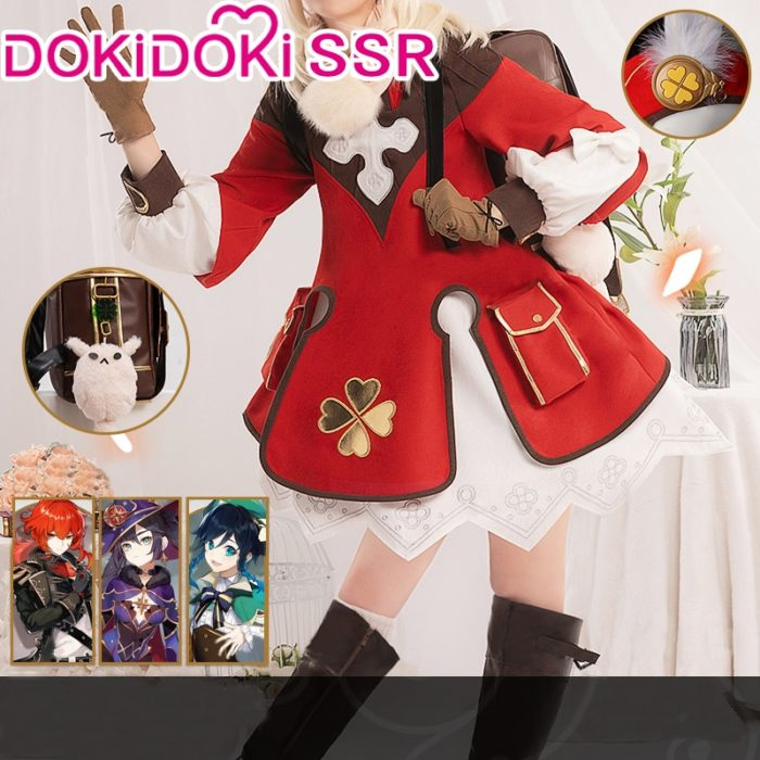 PRE-SALE DokiDoki-SSR Spiel Genshin Auswirkungen Cosplay Halloween Klee Genshin Auswirkungen Klee Cosplay 1