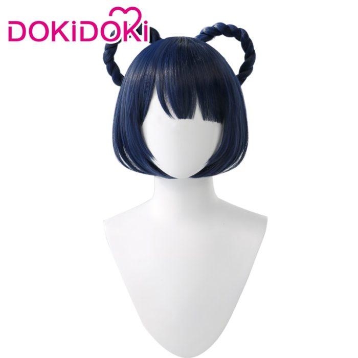 DokiDoki Spiel Genshin Auswirkungen Cosplay Halloween Xiangling Cosplay Perücke Genshin Auswirkungen Xiang ling Cosplay Haar 2